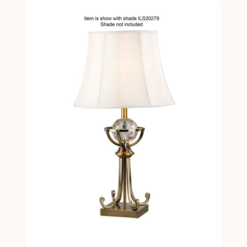 Large Crystal Designer 1 Light Table Lamp - Bedside Lighting Decor