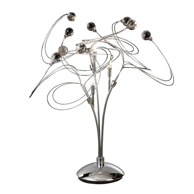 Decorative 3 Light Modern Table Lamp Polished Chrome/Crystal