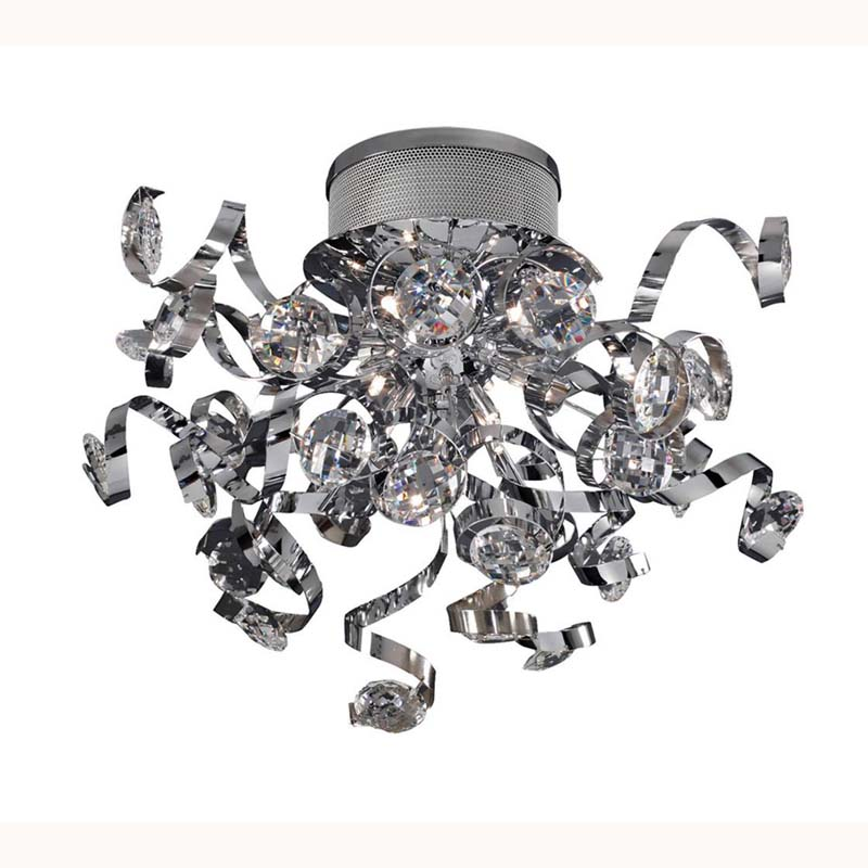 Kurlz Ceiling 9 Light Polished Chrome/Crystal
