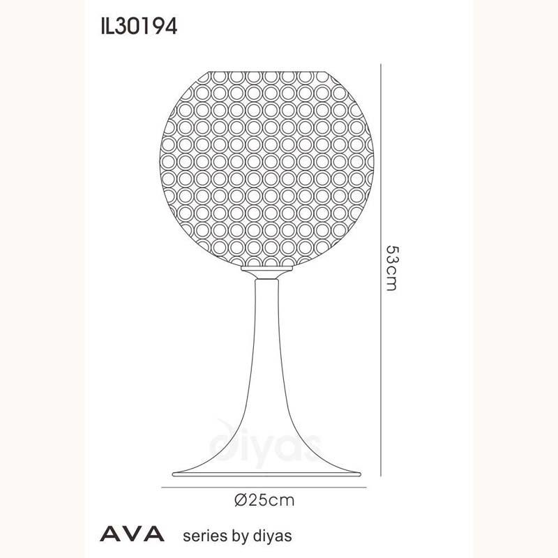 Crystal Table Lamp 3 Light - Polished Chrome Finish/Wedding Gift