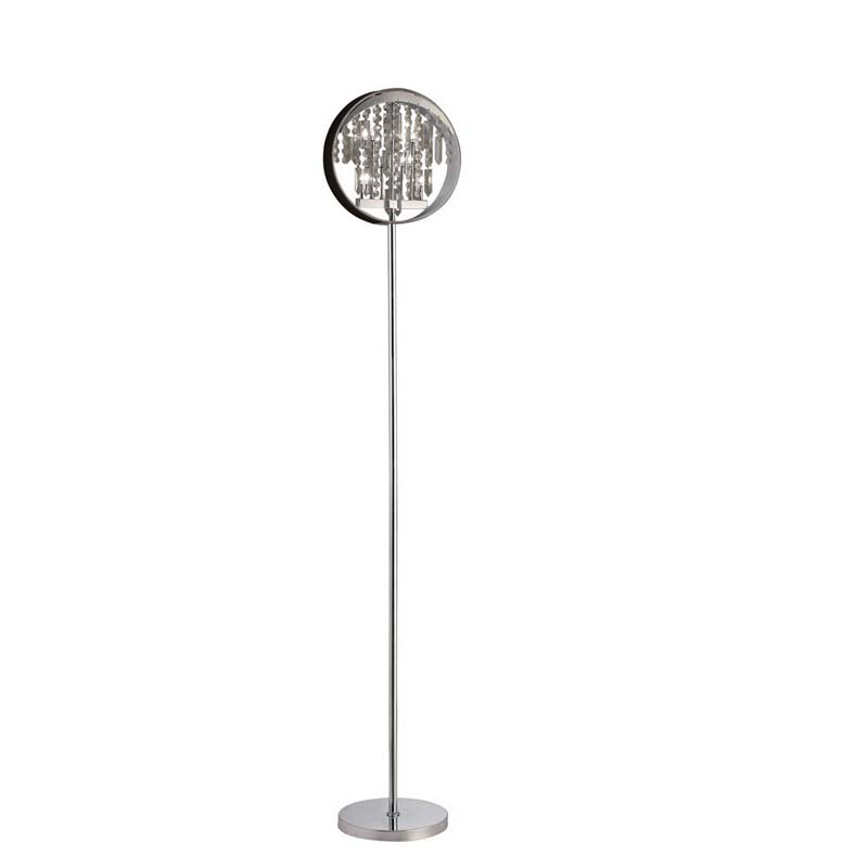 Floor Lamp With Black Shade 9 Light Crystal