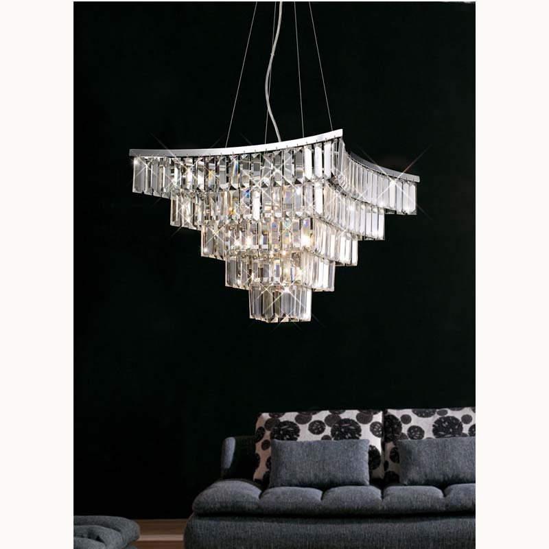 Gianni Semi Ceiling 5 Light Polished Chrome/Crystal
