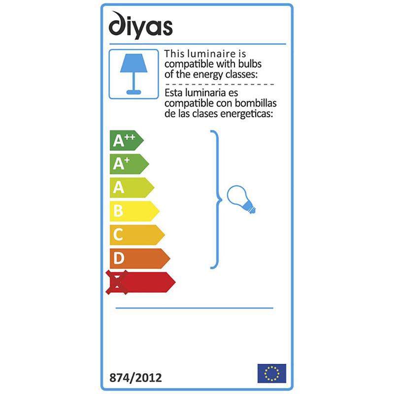 Enya Flush Ceiling 9 Light Polished Chrome/Crystal