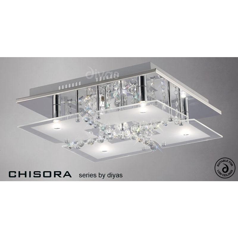 Chicora 5 Light Polished Chrome Semi Flush Light