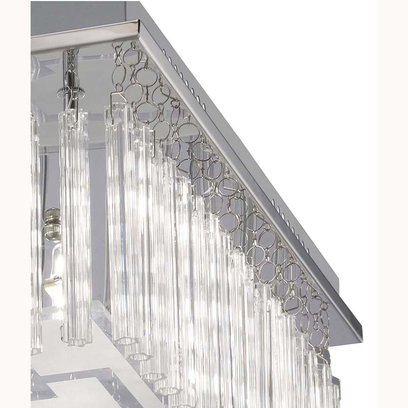 Capella Ceiling 8 Light Polished Chrome/Glass