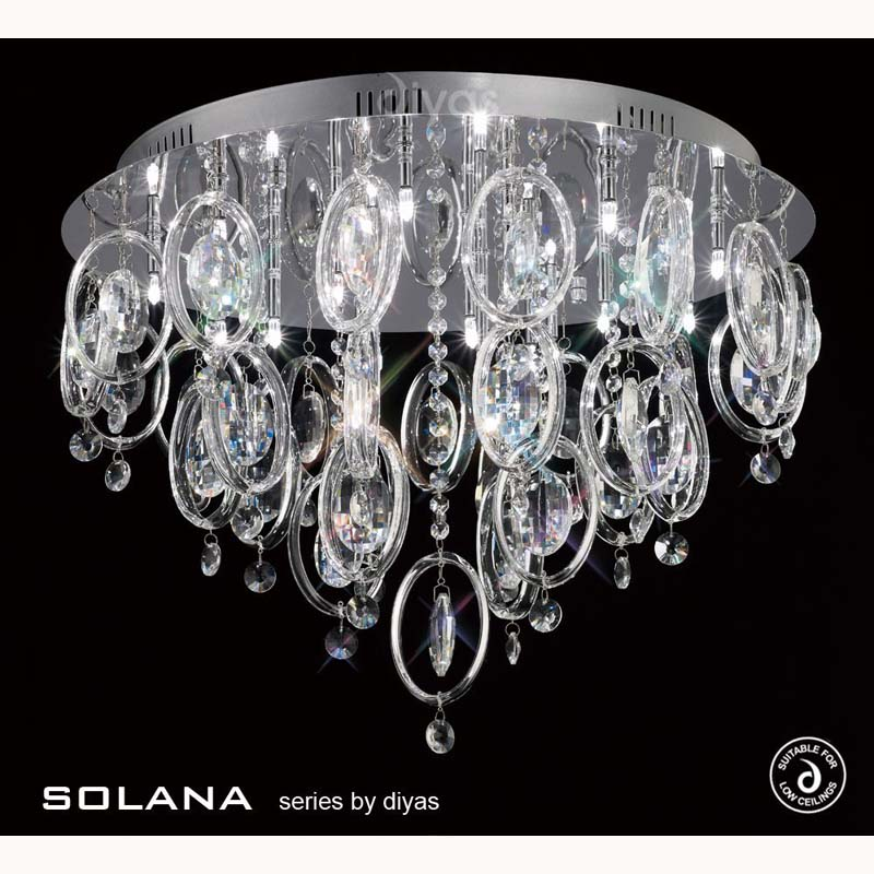Solana Ceiling 18 Light Polished Chrome/Crystal
