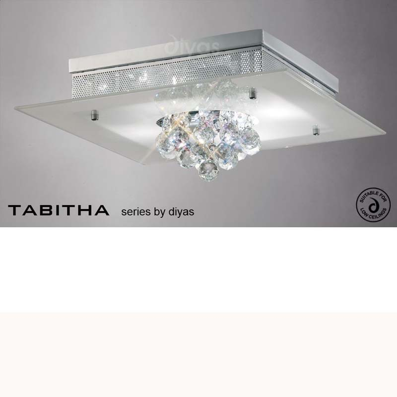 Tabitha Ceiling 4 Light Polished Chrome/Crystal