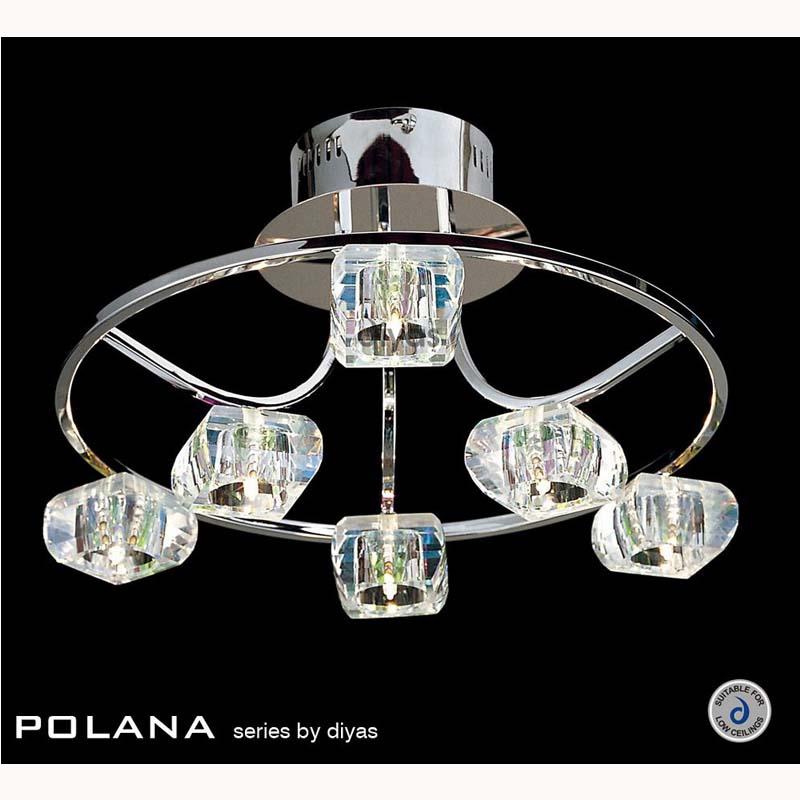 Polaner Semi Flush Ceiling Round 6 Light Polished Chrome