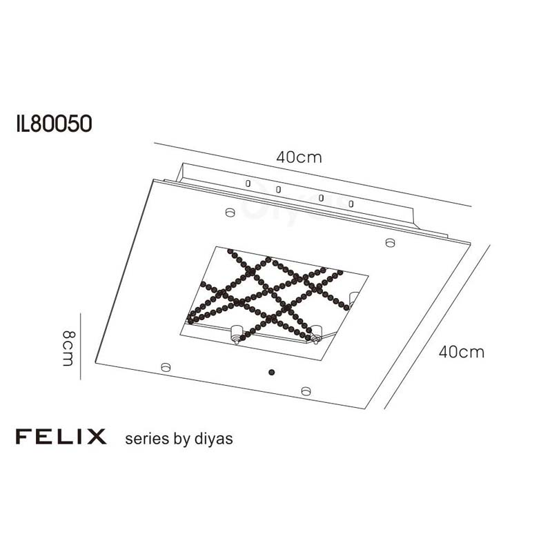Felix Ceiling Led Polished Chrome/Crystal