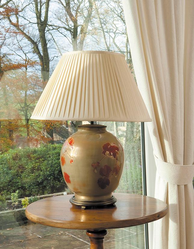 Collingridge Vine Large Round Base Only Decorated Glass Lamp