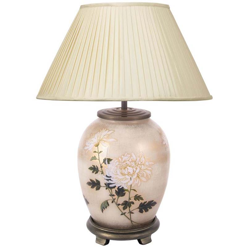 Decorative White Medium Oval Table Lamp Base Only