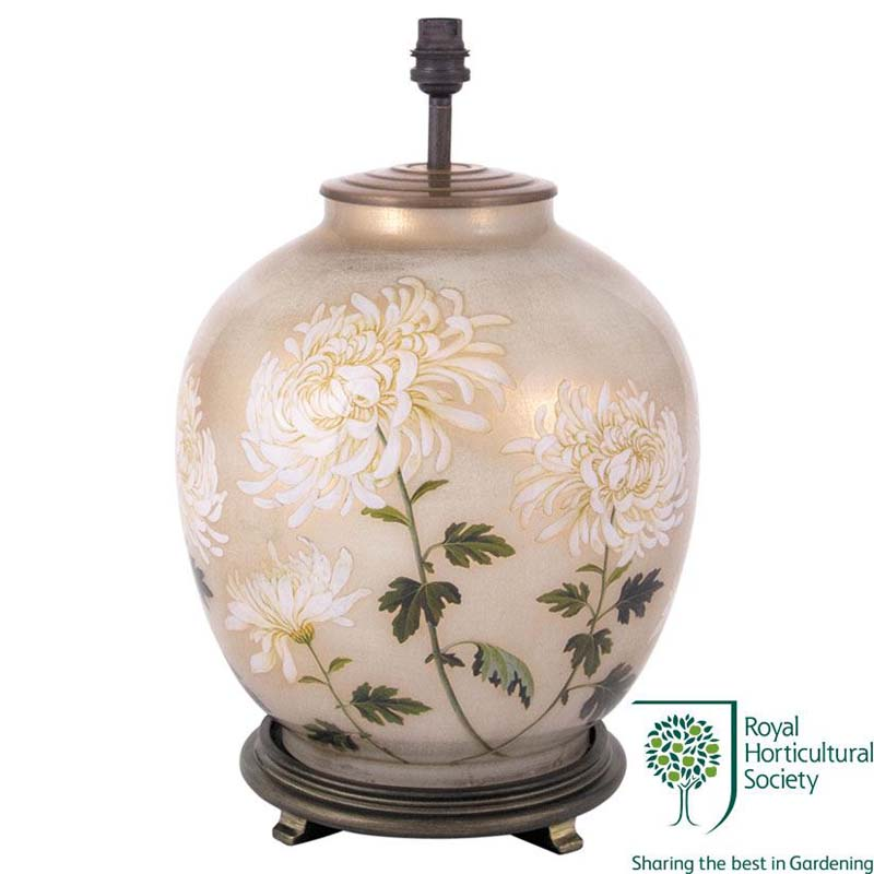 Decorative White Large Oval Table Lamp Base Only
