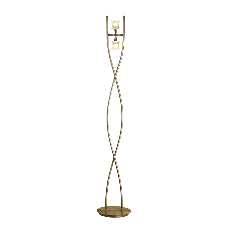 Rosa Del Desire To Floor Lamp 2 Lights Antique Brass