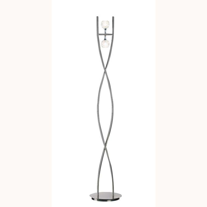 Dali Floor Lamp 2 Lights Polished Chrome