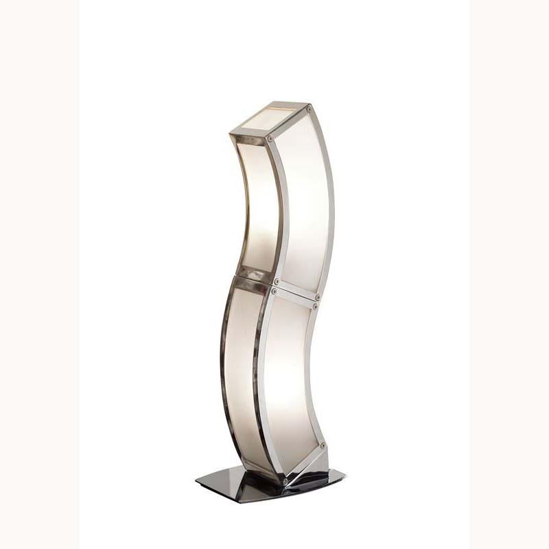 Modern Polished Chrome 2 Light Table Lamp