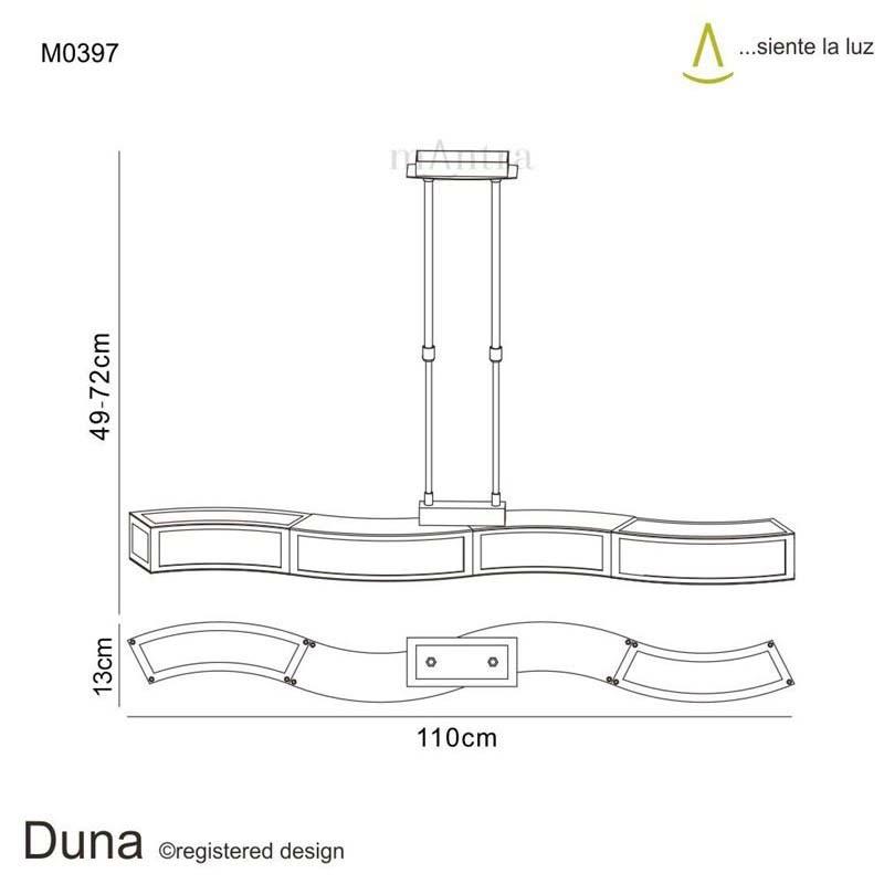 Duna Pendant 4 Light Polished Chrome Lamp Holder