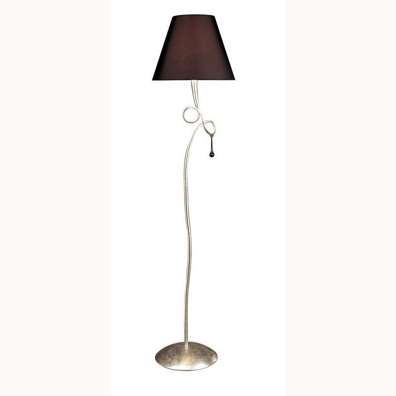 Paola Floor Lamp 1 Light Silver Leaf