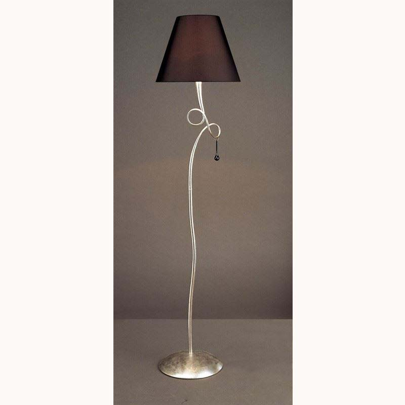 Paola Floor Lamp 1 Light Silver Leaf