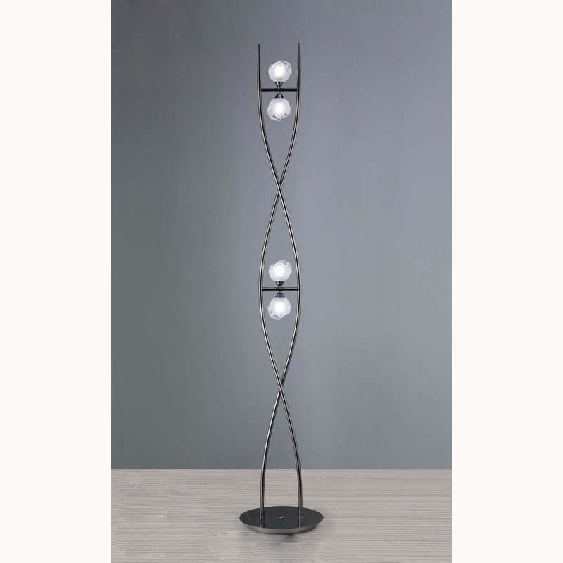 Mantra M0816BC Fragma Floor Lamp 4 Light G9, Black Chrome