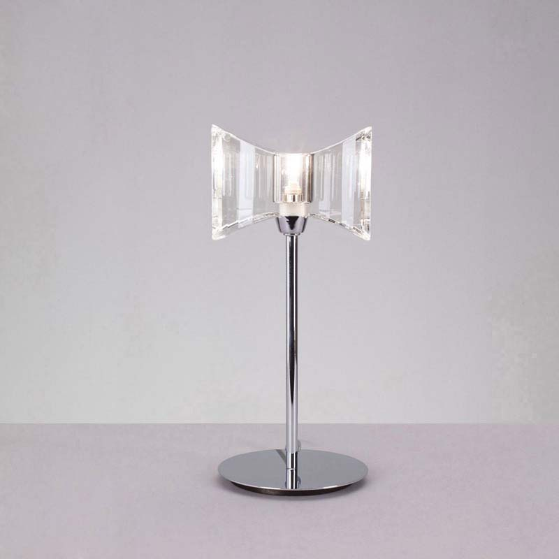 Kromo Polished Chrome Table Lamp 1 Light G9 Sraight Frame