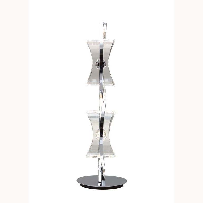 Table Lamp 2 Light Polished Chrome/Feminine Design - Modern Room Decor