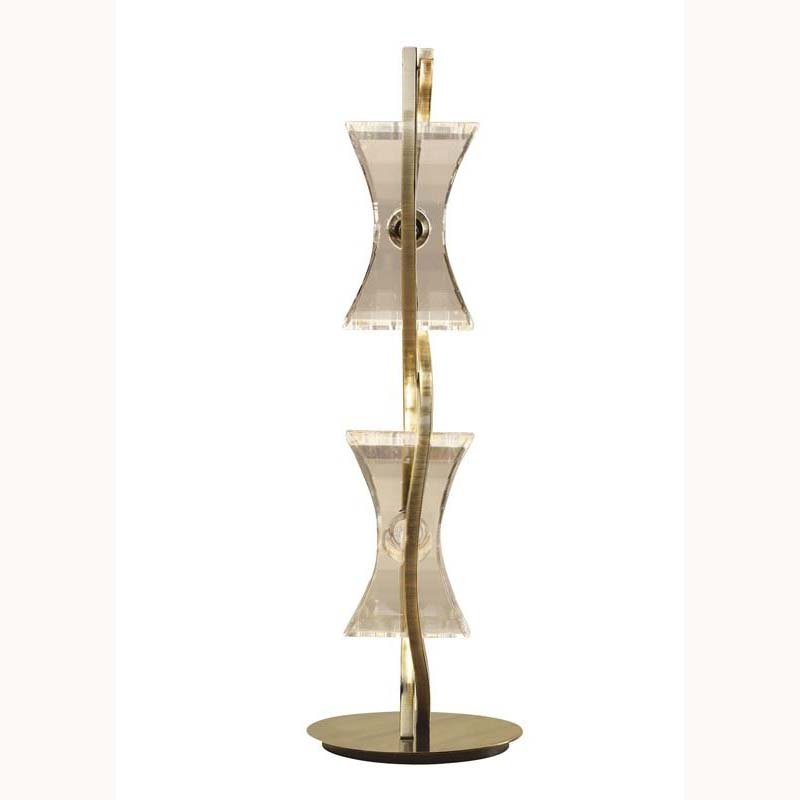 Stylish Chromo Table 2 Light Antique Brass/Feminine Design/Unique Look