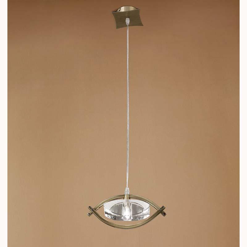 Mantra M0899AB Kromo Pendant 1 Light G9, Antique Brass