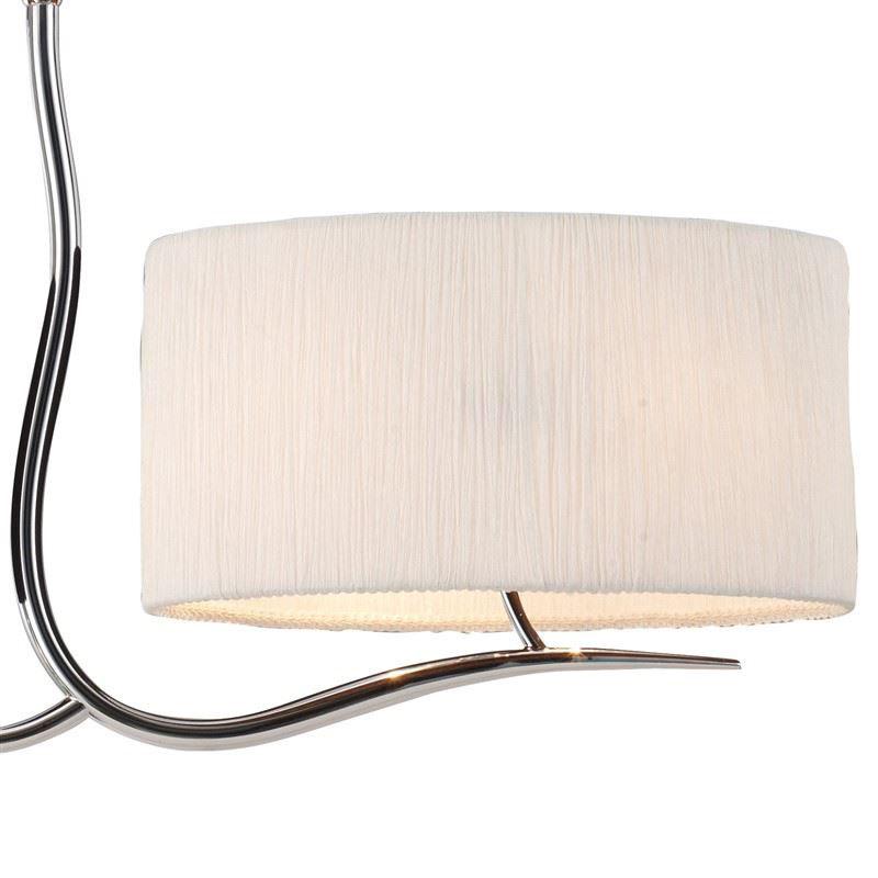 Eve Pendant 4 Light Polished Chrome With White Shade