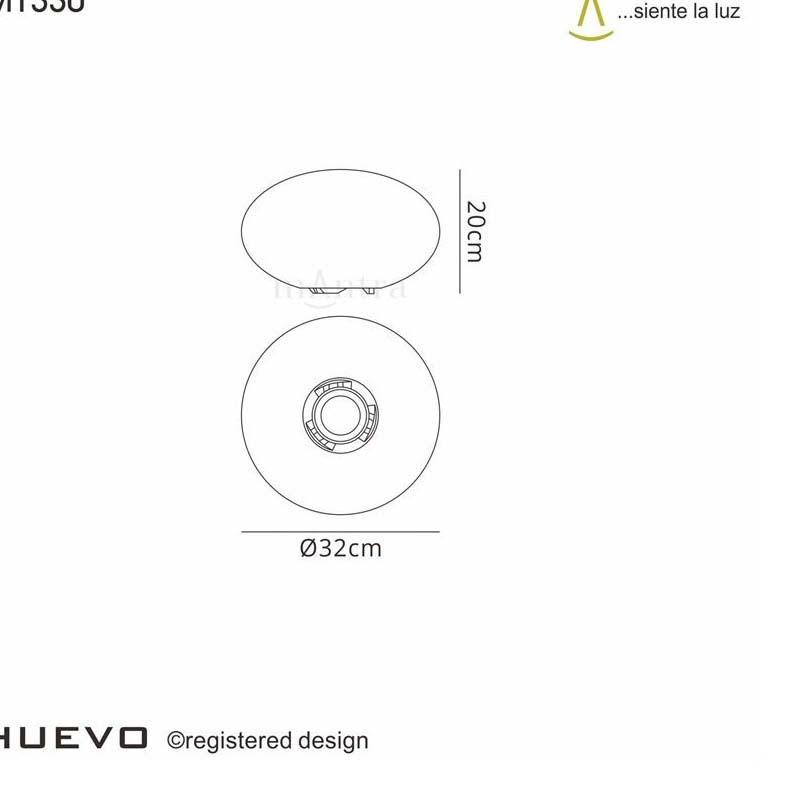 Oval Table Lamp 1 Light Indoor/Outdoor - Stunning White Finish