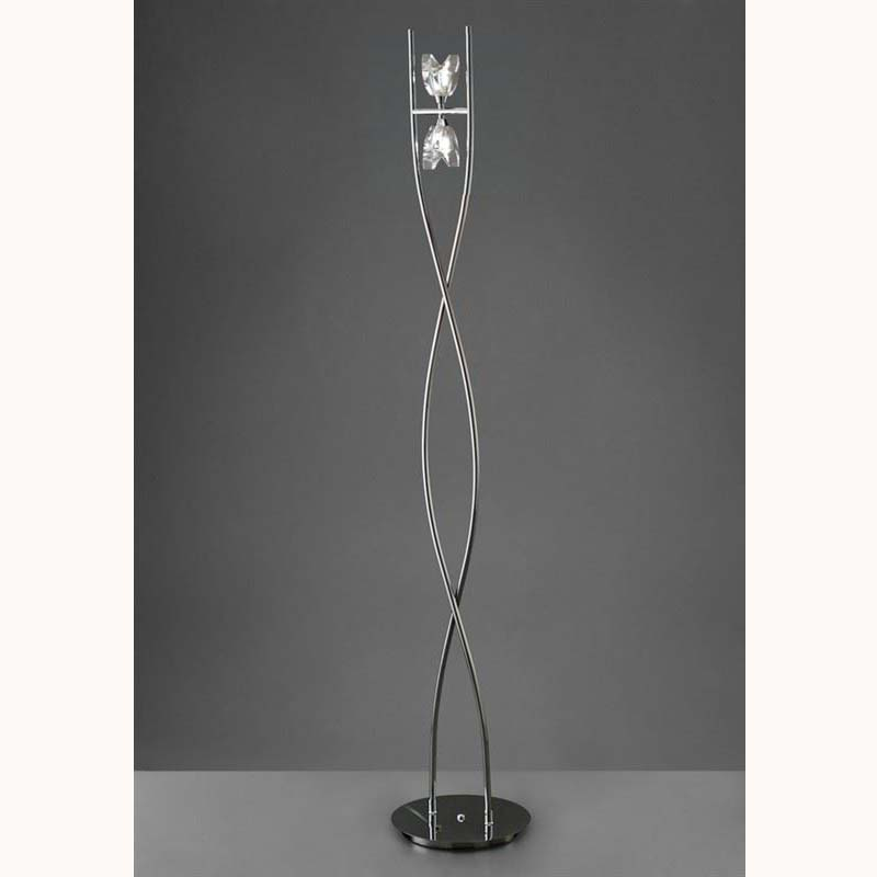 Eclipse Floor Lamp 2 Light Polished Chrome