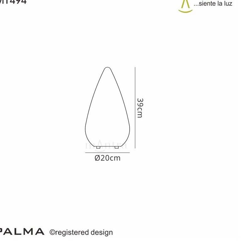 Palma Table Lamp 1 Light Outdoor White - Stylish Unique Design