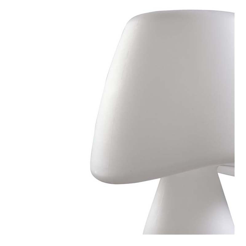 Stylish Cool Table Lamp 2 Light Outdoor White Color - Epoxy Finish