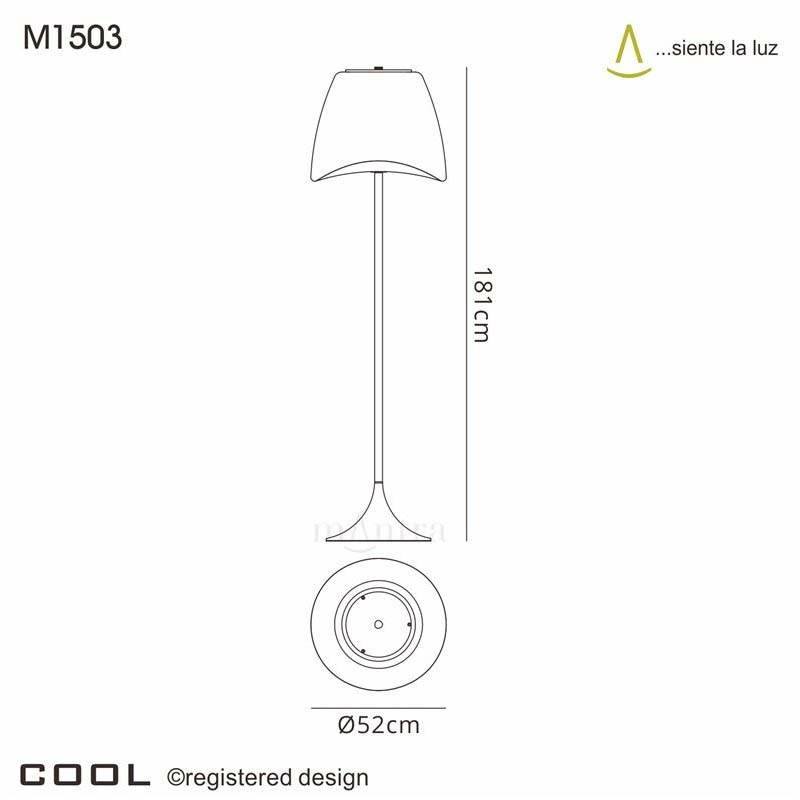 Cool Floor Lamp 2 Light Outdoor , White Colour