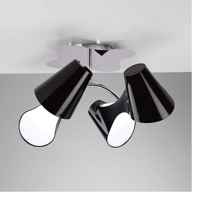 Ora Ceiling Semi Flush 4 Light Polished Chrome/Black