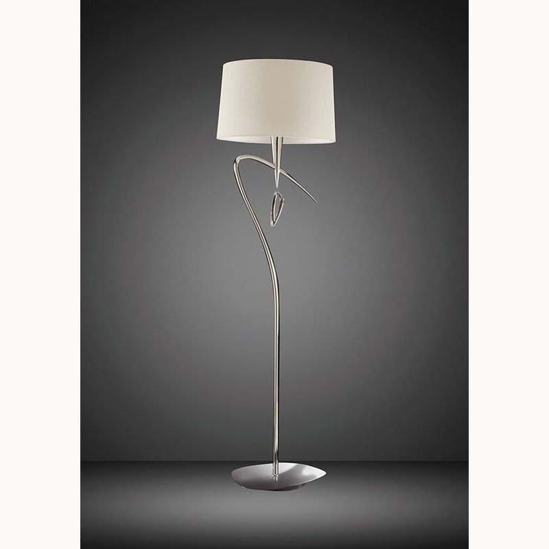 Mara Floor Lamp 1 Light Polished Chrome/Cream