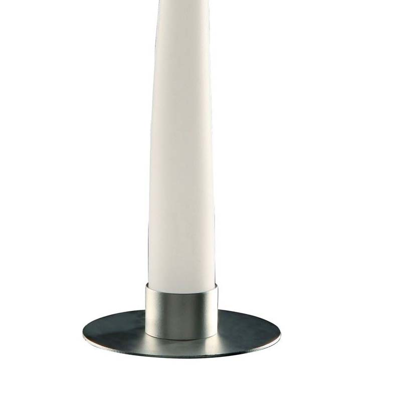 Decorative 1 Light Table Lamp Silver/Opal White Indoor/Outdoor