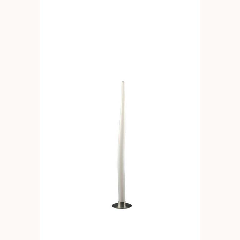 Escalate Floor Lamp 1 Light Small Silver/Opal White Indoor