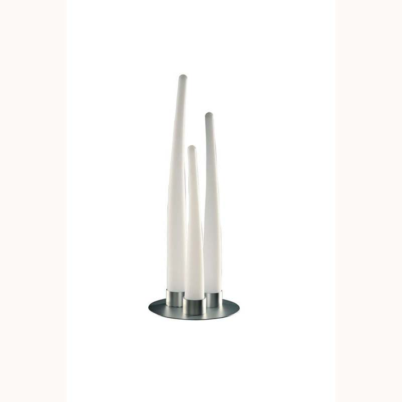 Escalate Table Lamp 3 Light Silver/Opal White Outdoor Light Decor