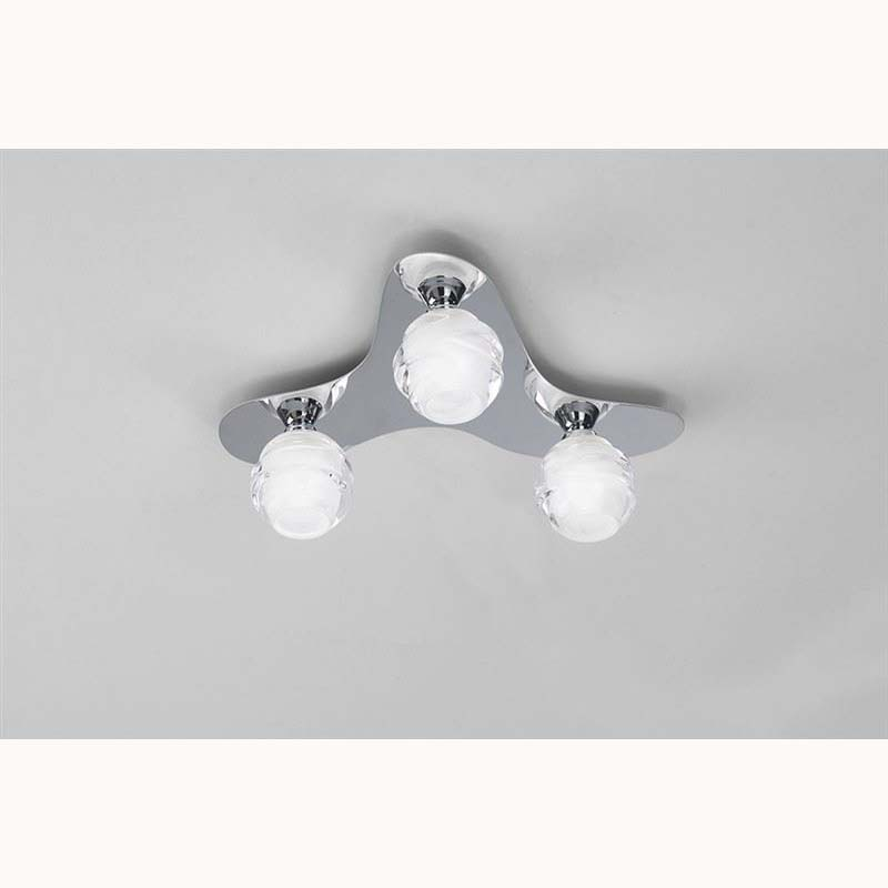 Decor Loop Ceiling 3 Light Polished Chrome