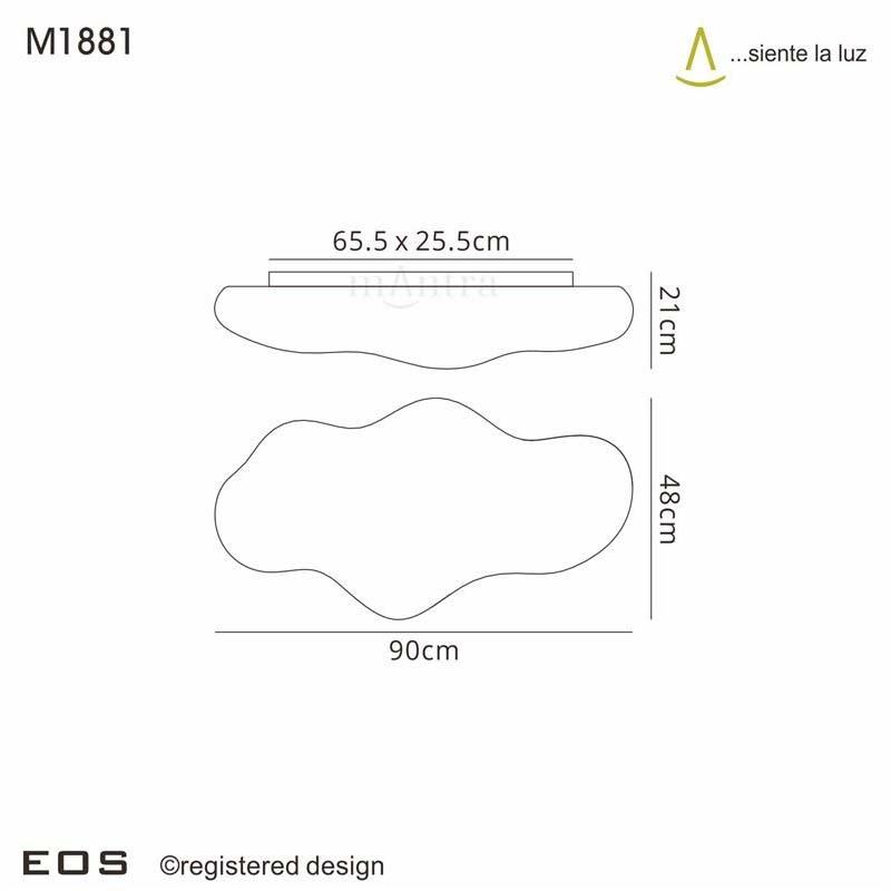 Eos Ceiling 6 Light Outdoor IP44 White - Mantra