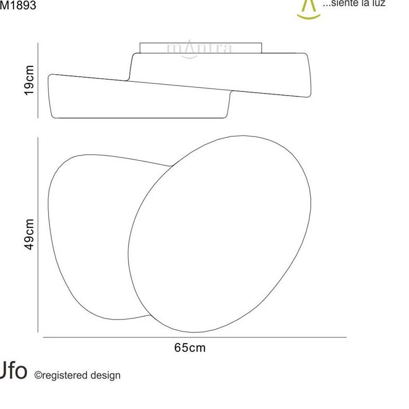 Ufo Ceiling 4 Light Outdoor IP44 White - Mantra