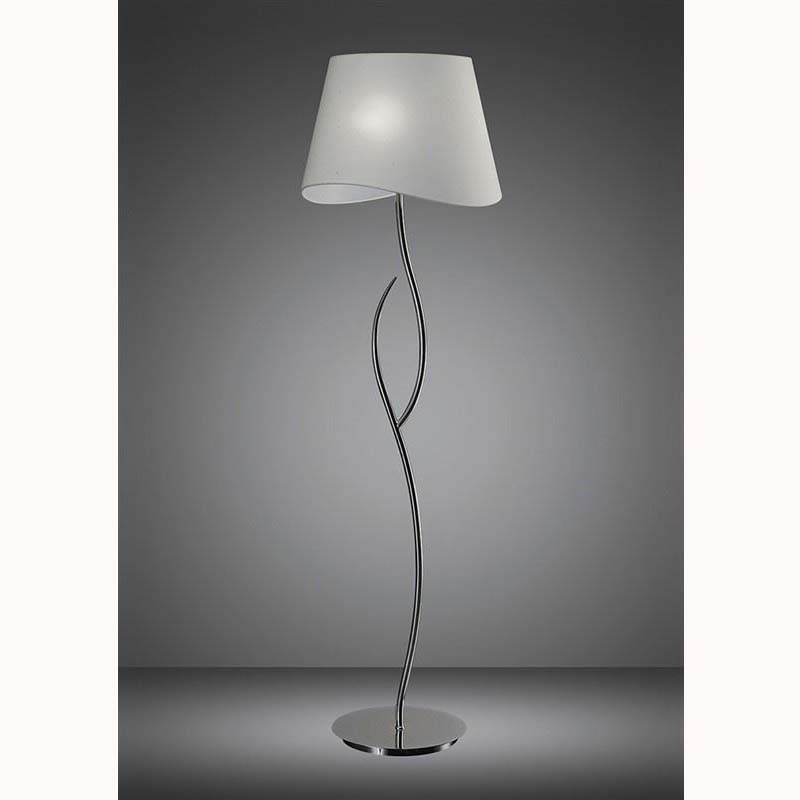 Nanette Floor Lamp 4 Light Polished Chrome/White