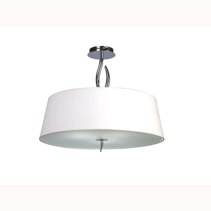 Nanette semi ceiling 4 light polished chrome/white