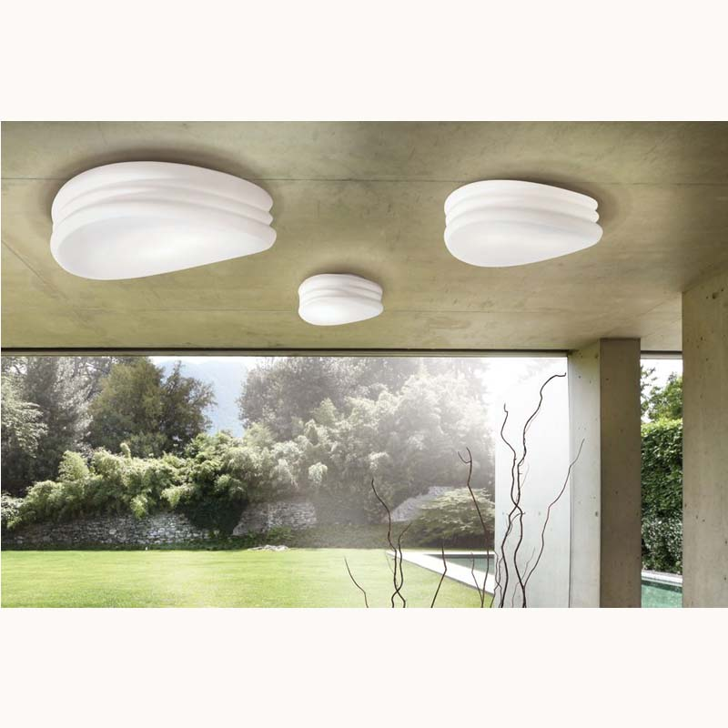 Mediterranean Ceiling/Wall 3 Light Large Opal