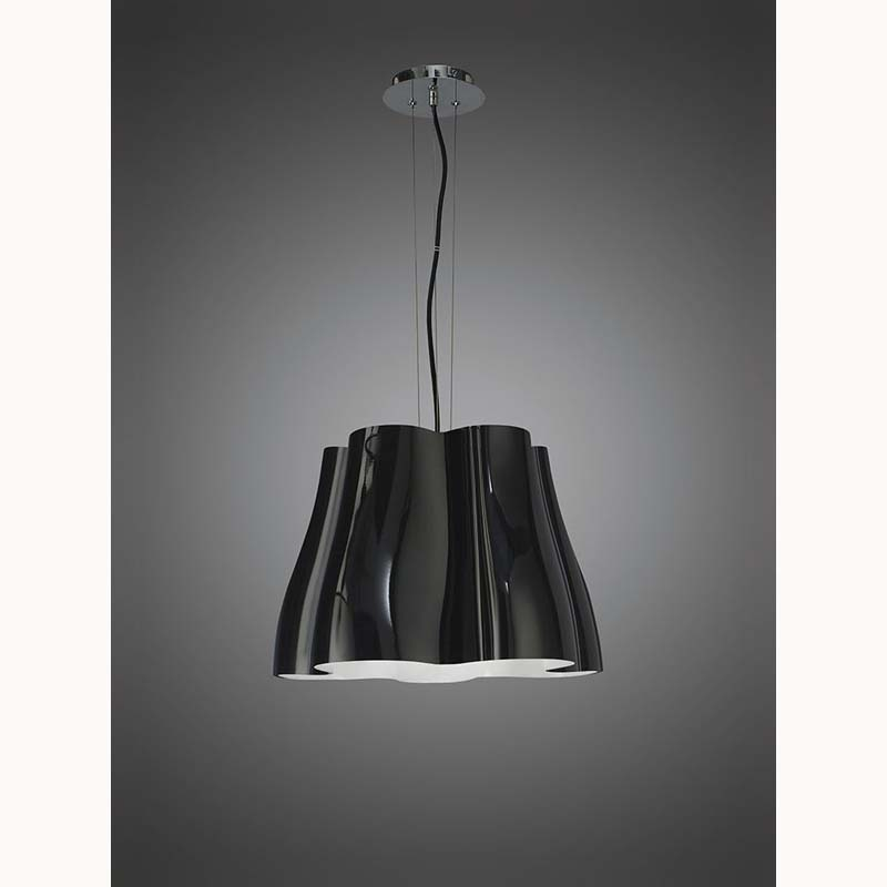 Mantra M3721 Miss Pendant 3 Light E27, Gloss Black/Polished Chrome