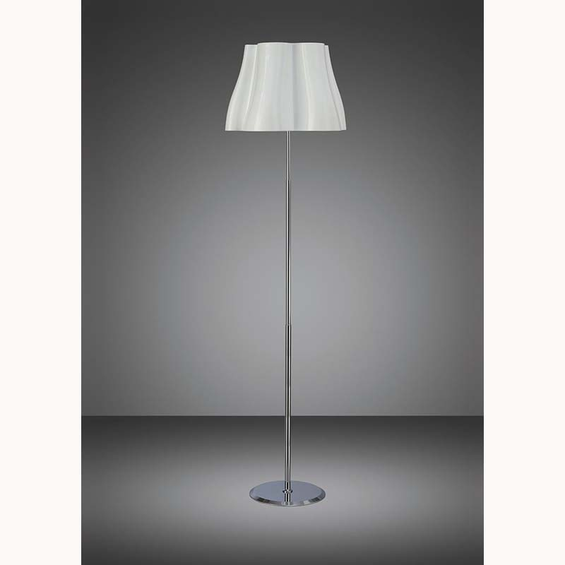 Mantra M3722 Miss Floor Lamp 3 Light E27, Gloss White/Polished Chrome