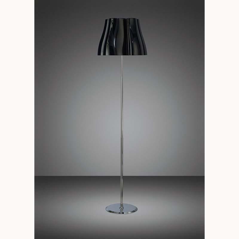 Mantra M3723 Miss Floor Lamp 3 Light E27, Gloss Black/Polished Chrome