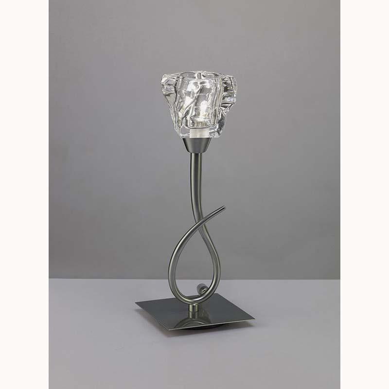 Iku Satin Nickel 1 Light Table Lamp