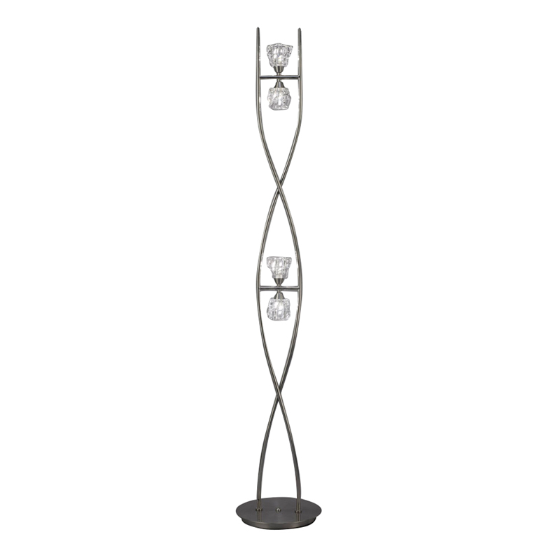 Mantra M3758 Iku Floor Lamp 4 Light G9, Satin Nickel