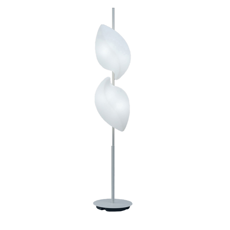 Mantra M3788 Natura Floor Lamp 4 Light E27 Outdoor IP44, Matt White/Opal White